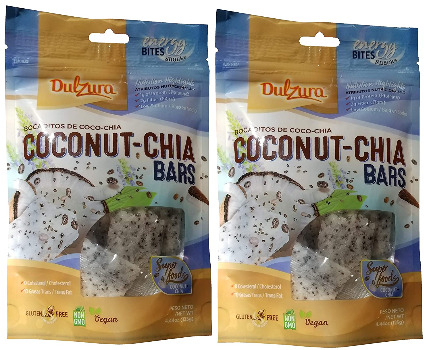 Dulzura Borincana Energy Bites Vegan Snacks Variety (Coconut Chia): Amazon.com: Grocery & Gourmet Food