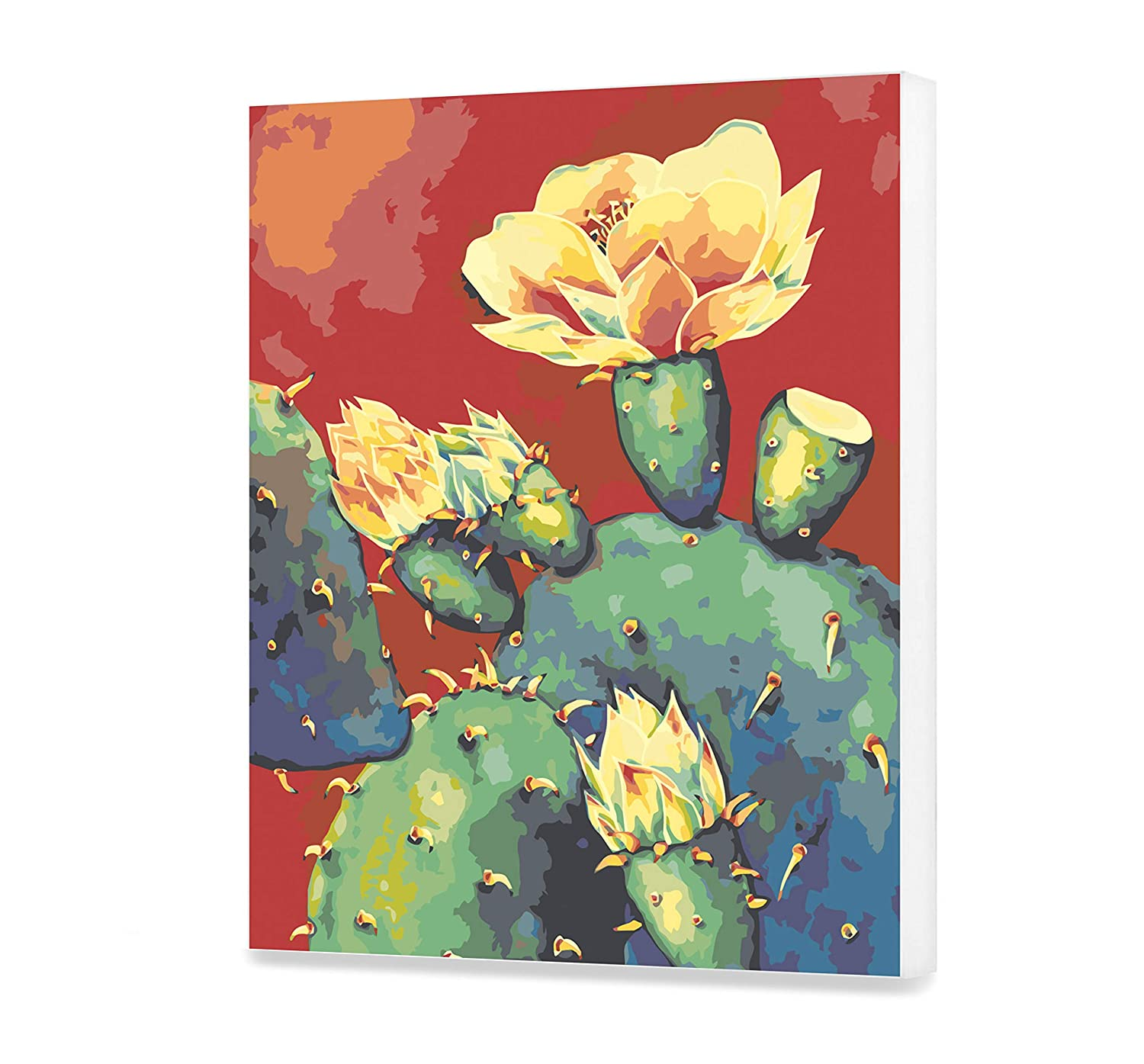 Cactus Acrylic Painting Home Decor Flowers Paint By Numbers Floral Painting Kit Painting By Numbers Adults Plant Painting DIY Kit Painting DIY