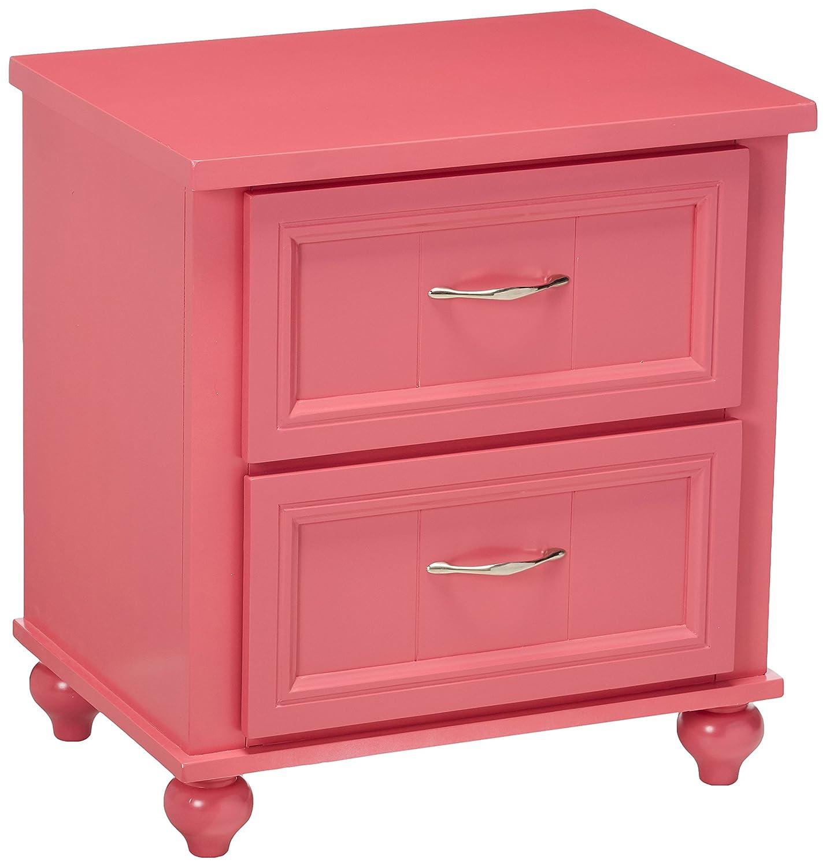 247SHOPATHOME IDF-7322PK-N Childrens, nightstand, Pink Furniture of America