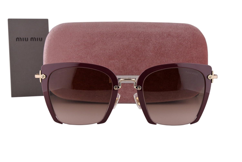 Amazon.com: MIU MIU mu52rs anteojos de sol Amaranto W/café ...