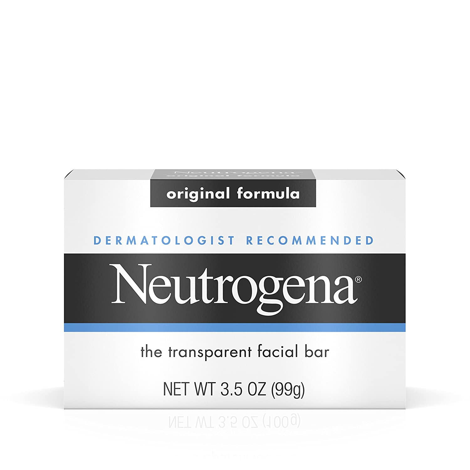 Neutrogena Transparent Scented Facial Soap, Original Formula Soap - 3.5 Oz