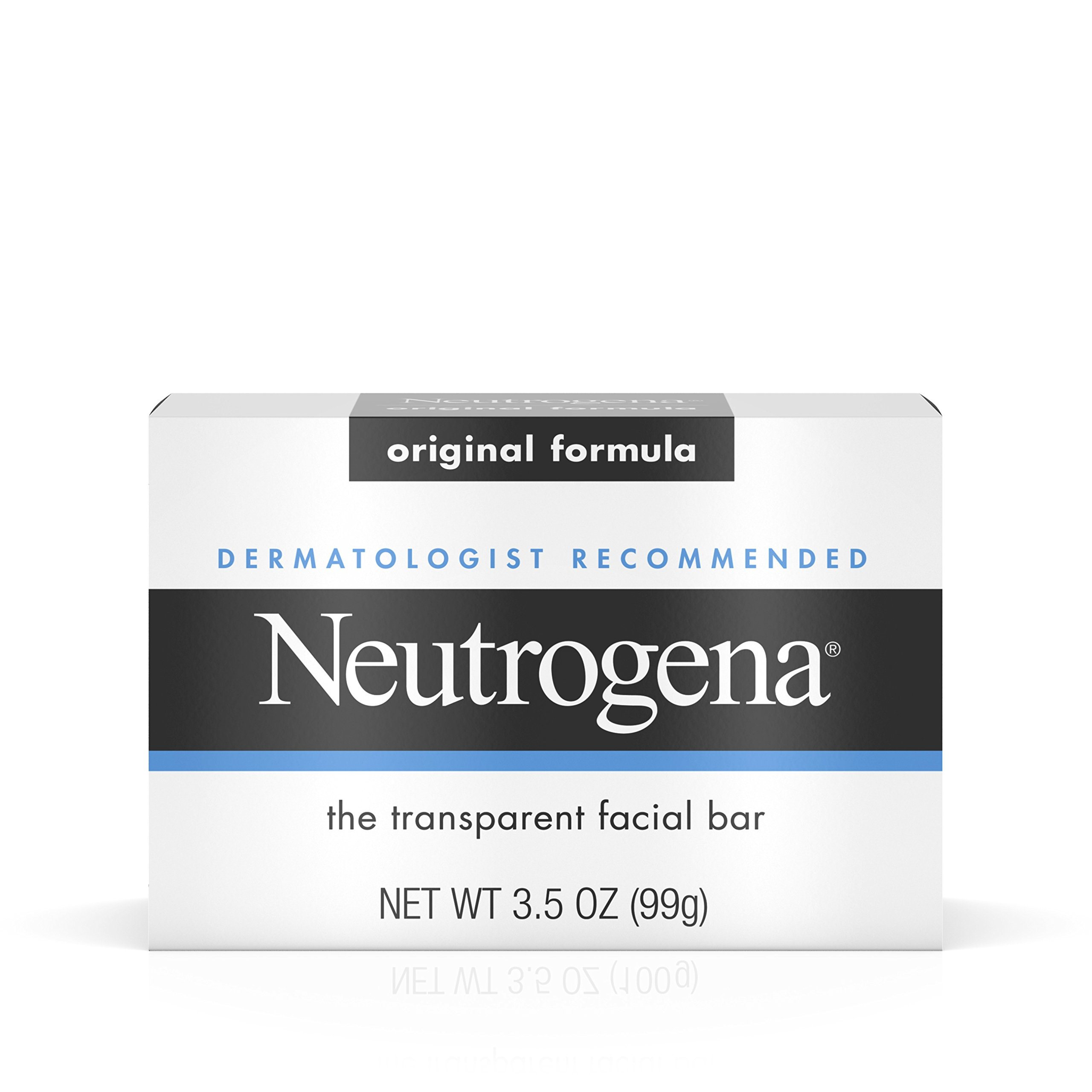 Neutrogena Original Gentle Facial Cleansing Bar with Glycerin, Pure & Transparent Face Wash Bar Soap, Free of Harsh Detergents, Dyes & Hardeners, 3.5 oz (Pack of 6) by Neutrogena