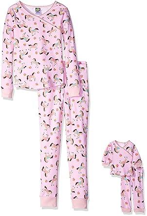 Amazon.com  Dollie   Me Girls  Printed Snugfit Sleepwear Set  Clothing b8505e0b8