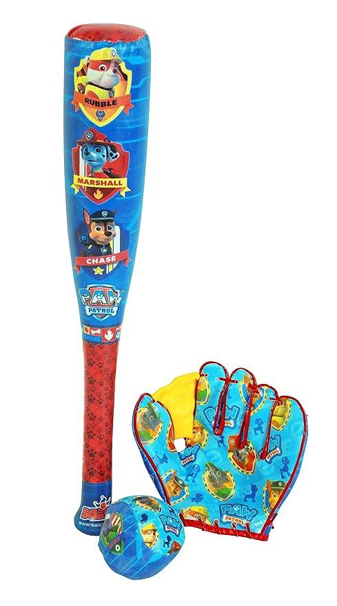PAW PATROL - Ball, Baseball Bat and Glove, Juguete de Aire Libre (Saica