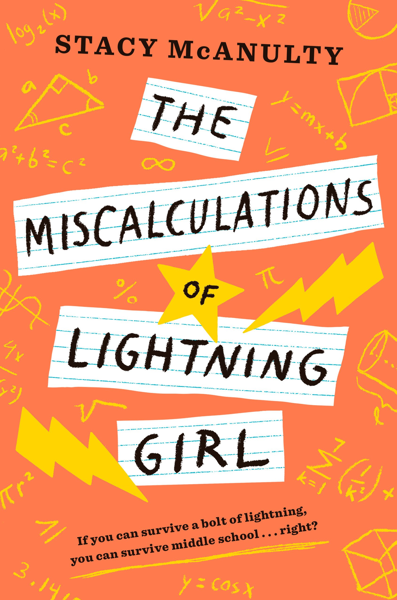 Cover art for the book entitled The Miscalculations of Lightning Girl