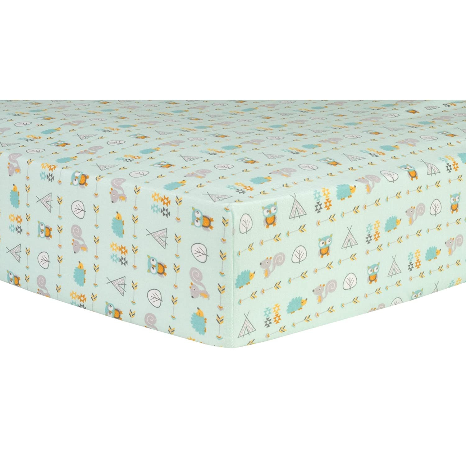 Trend Lab Southwest Adventures Deluxe Flannel Fitted Crib Sheet 103181