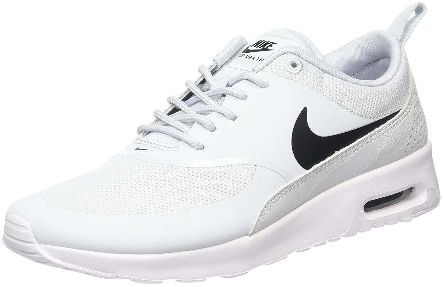 brand new 7ca39 ad449 Nike Womens Air Max Thea Pure PlatinumBlackWhite Running Shoe 7 Women  US Amazon.in Shoes  Handbags
