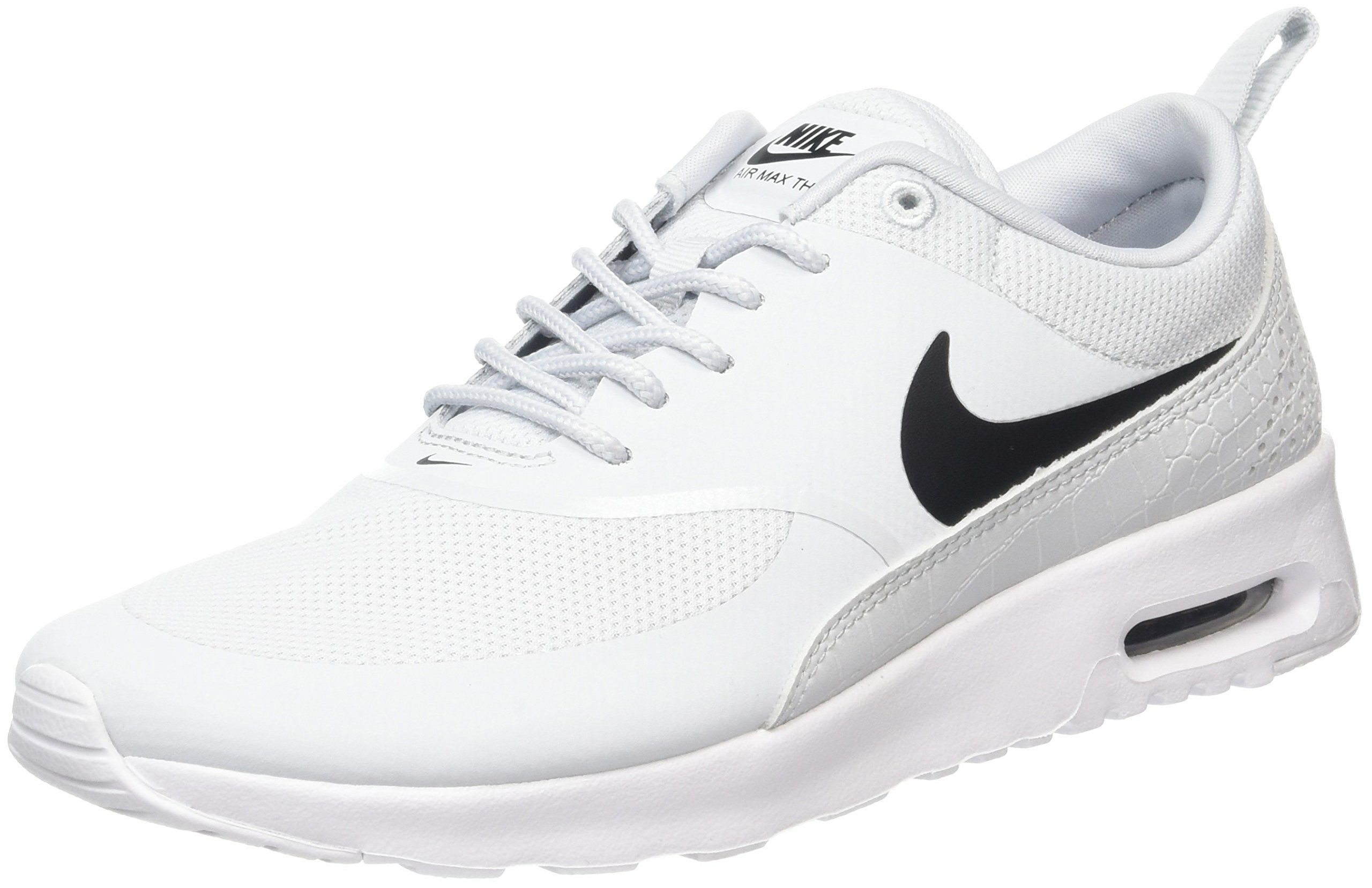 Nike Women's Air Max Thea Low Top Sneakers, Grey (Pure PlatinumBlack White), 7.5 UK