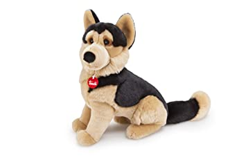 Trudi Classic Fred German Shepherd Plush Toy, Sitting, Large