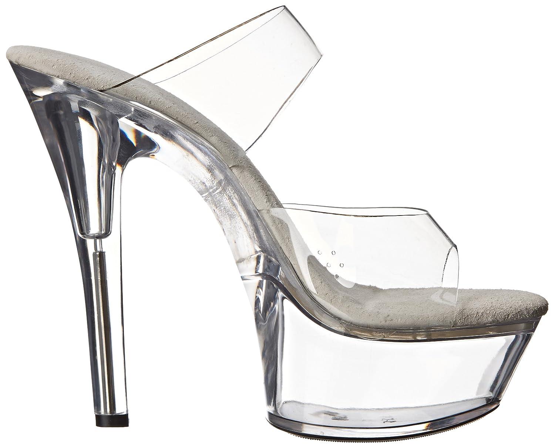 Ellie Shoes Women's 601 Coco Platform Sandal B00JEF09HQ 5 B(M) US|Clear