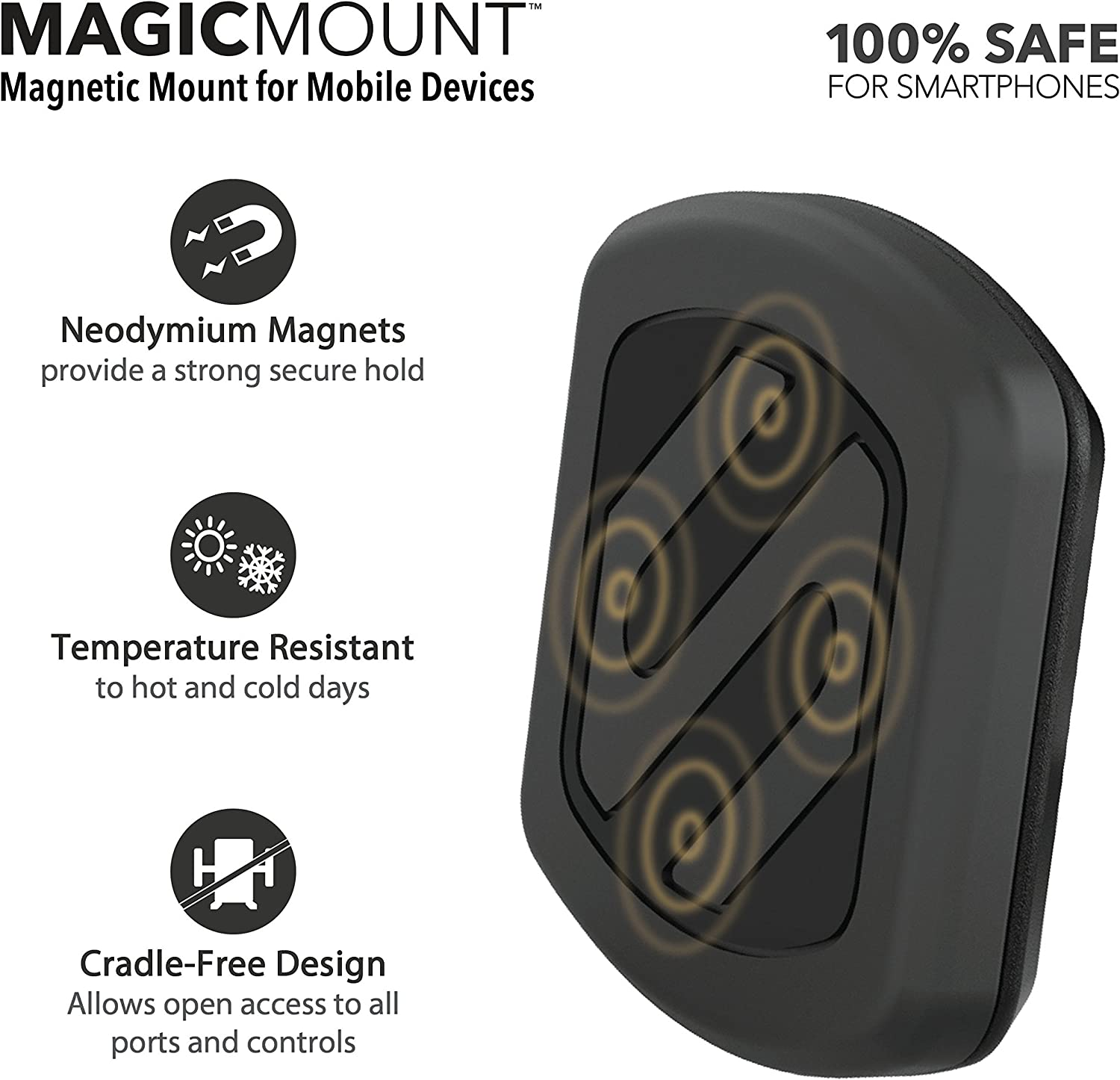 SCOSCHE MAGC242 MagicMount Magnetic Phone//GPS Power Outlet Mount for The Car Renewed