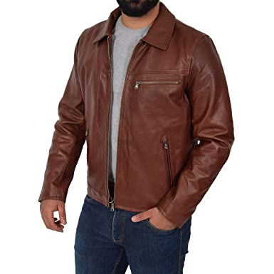 Braune Bikerjacke Lederjacken für Herren vergleichen und