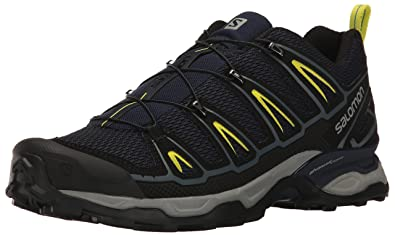 Salomon Men's X Ultra 2 Hiking Shoe, Navy Blazer/Ombre Blue/Sulphur Spring