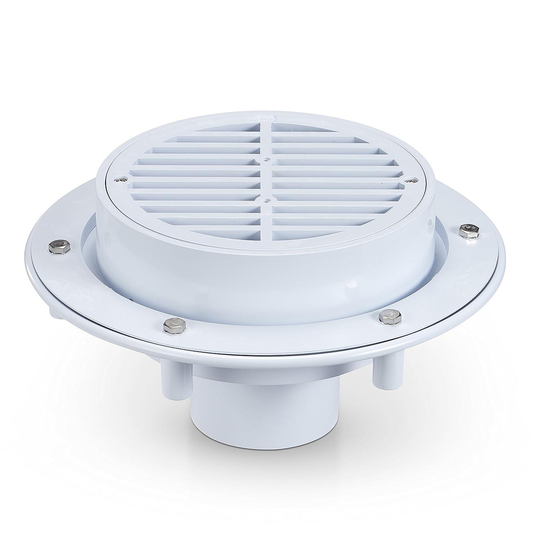 3 x 4 PVC Solvent Weld Outlet Connection Zurn FD2360-PVC Large Capacity Floor Drain