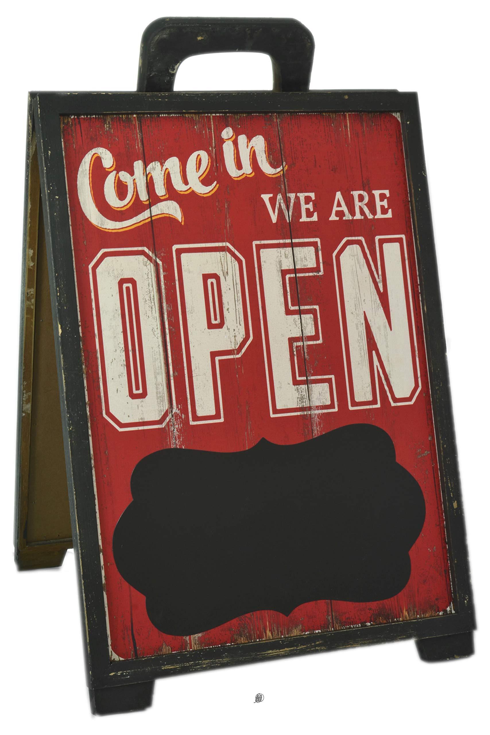 American Chateau Red Open/Close Blackboard Message Menu Board Restaurant Style Sidewalk A-Sign