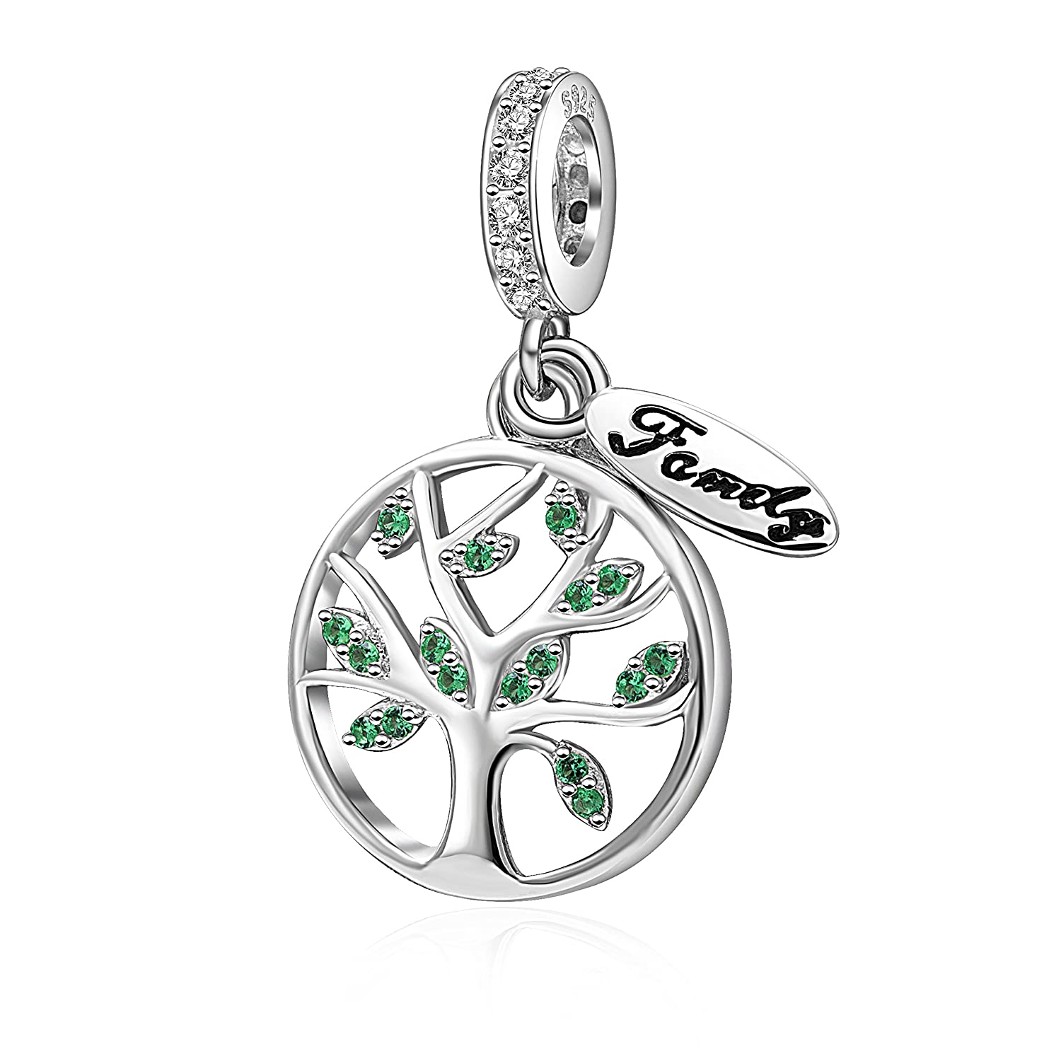 c8a701ff6 Hoobeads Tree of Life Charms Pendant Authentic 925 Sterling Silver Family  Tree Bead for European Bracelet