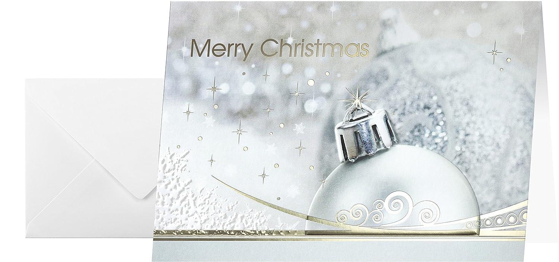 Wunderbar Edle Weihnachtskarten Basteln Das Beste Von Sigel Ds018 Set Mit Umschlag, A6, 10