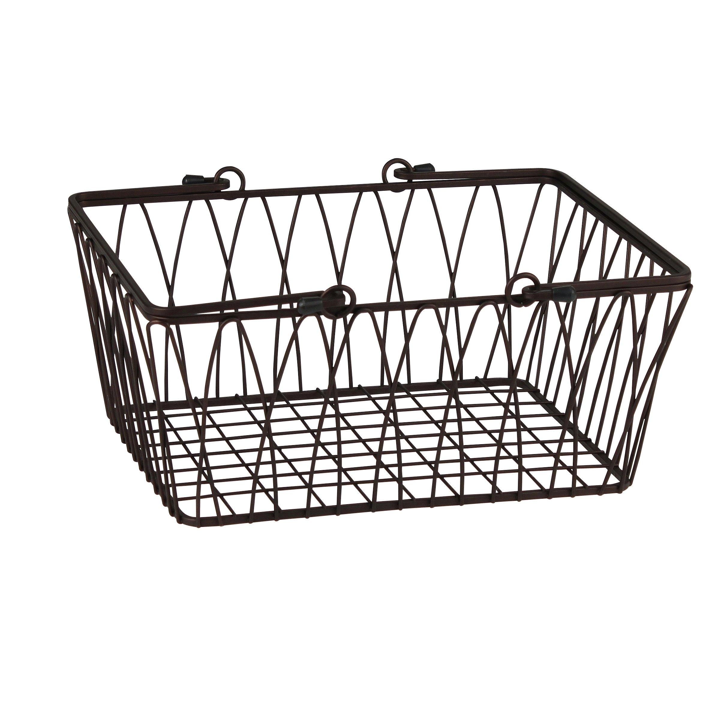 Spectrum Diversified Twist Storage Basket, Medium, Bronze