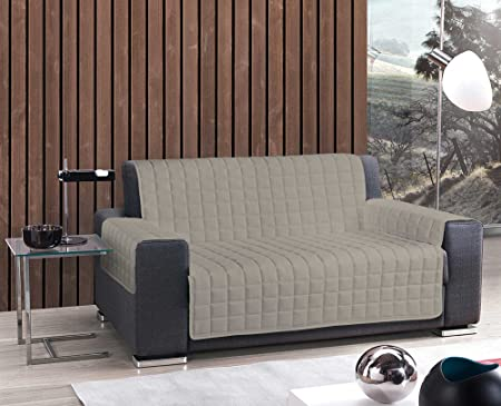 Sofa Cover Padded And Quilted Plain Pattern Three Seats Rope