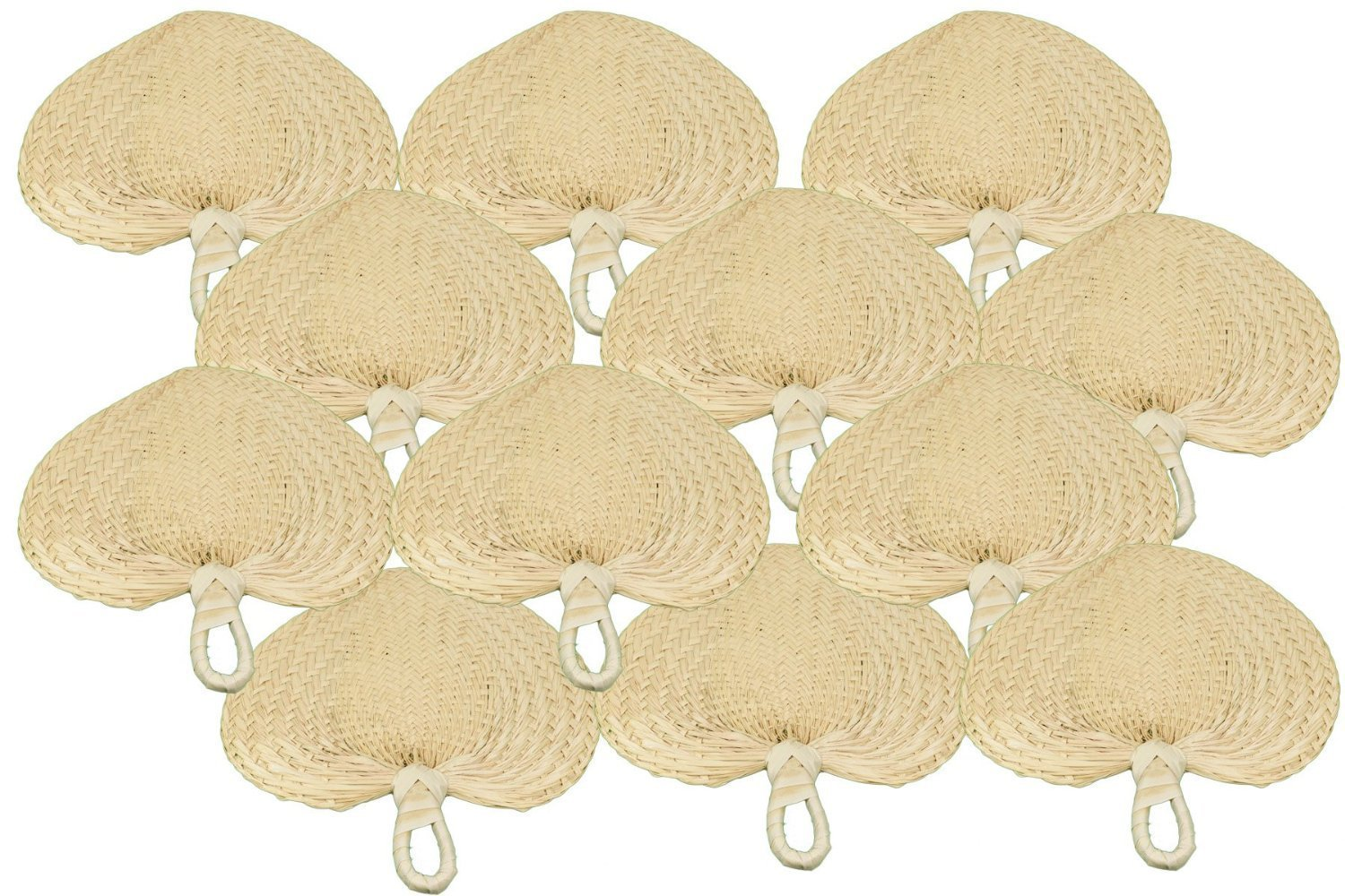 10'' Natural Fans (1 Dozen) - BULK by Fun Express