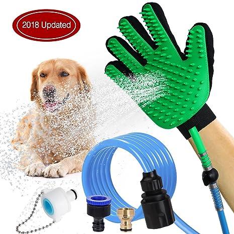 HLZDH 2-EN-1 unidad Pet ducha rociador de baño manopla , limpieza perro