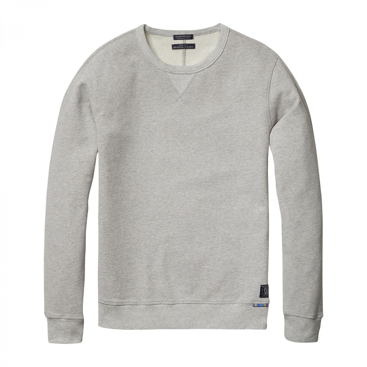 Scotch & Soda Herren Pullover Crewneck Sweater 101497 Grey Melange XL