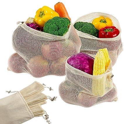 Madholly Bolsa de Compras 9er para Frutas y Verduras con ...