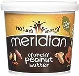 Meridian Natural Crunchy Peanut Butter With No Added Salt 1 kg - Pack of 2