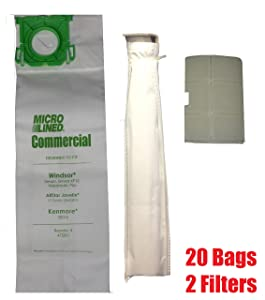 Sebo, Windsor Service Box Vacuum Bag and Filter Kit. 20 Bags + 2 Filters.