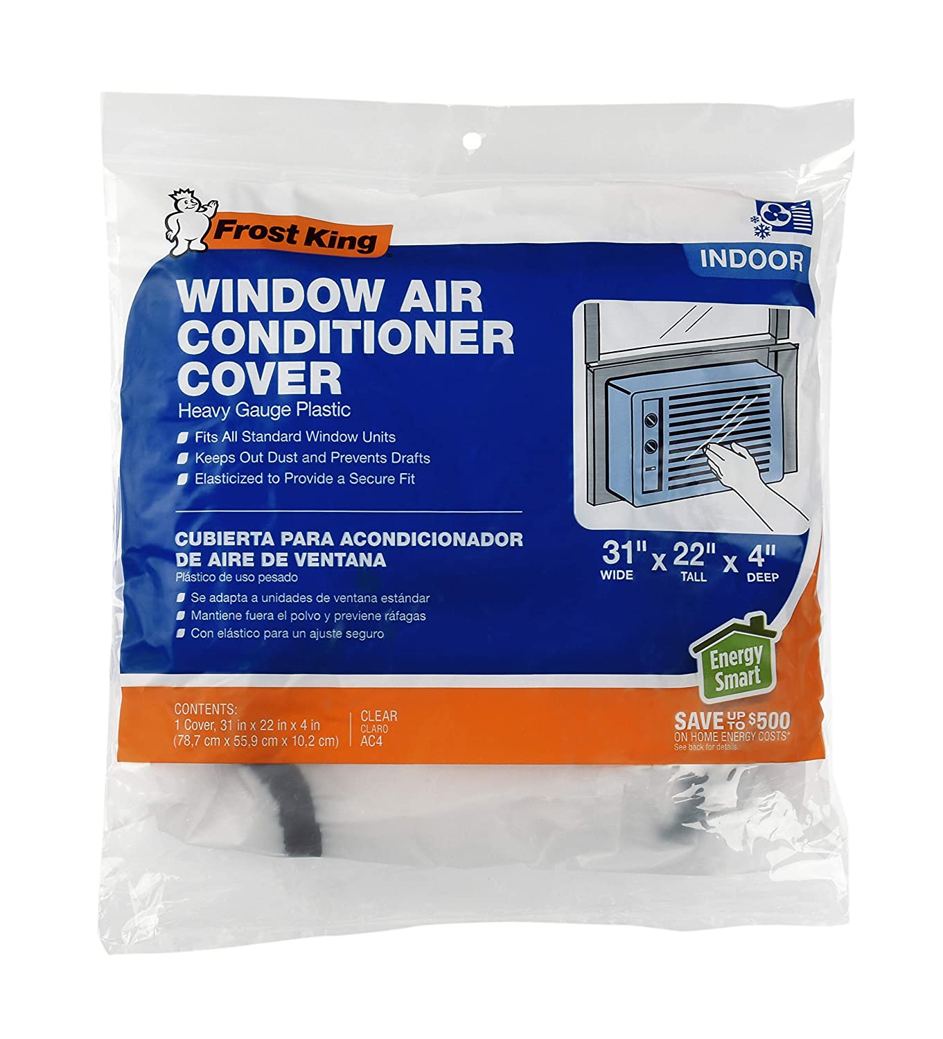 B001AV51LQ Frost King AC4 Inside Window Air Conditioner Cover, 3mil 81e5ZD2BshLL