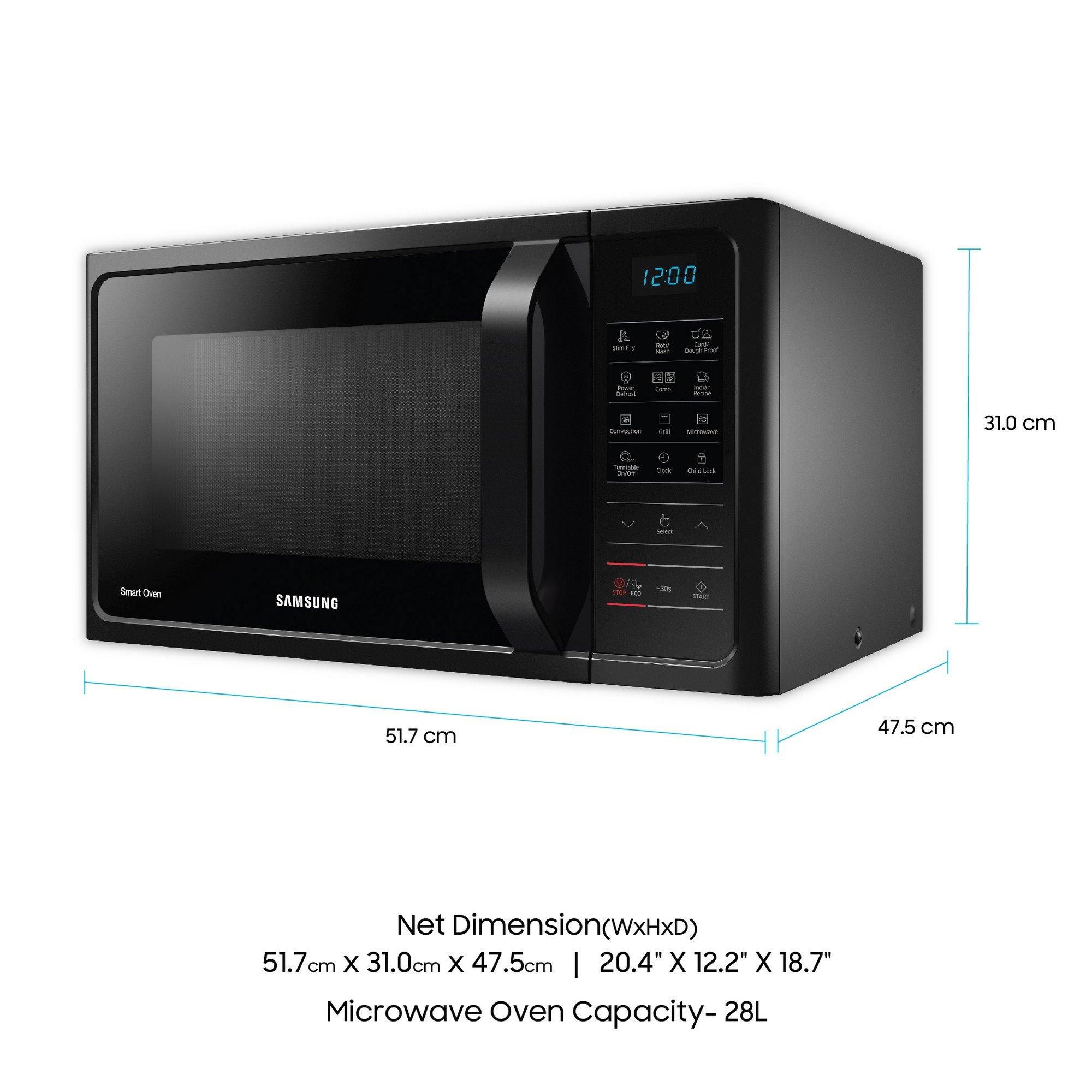 Samsung 28 L Convection Microwave Oven Mc28h5033ck Black