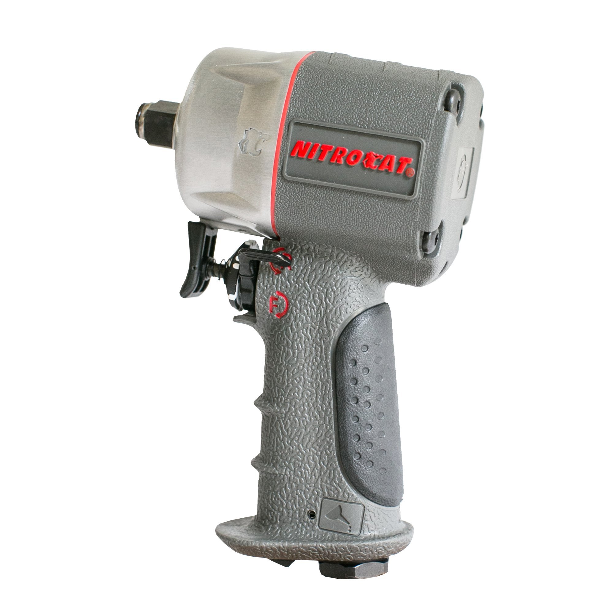 AIRCAT 1056-XL Kevlar Composite Compact Impact Wrench, 1/2'', Silver & Grey by AirCat