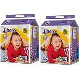 Libero Open Medium Size Diaper (60 Count) - Pack Of 2