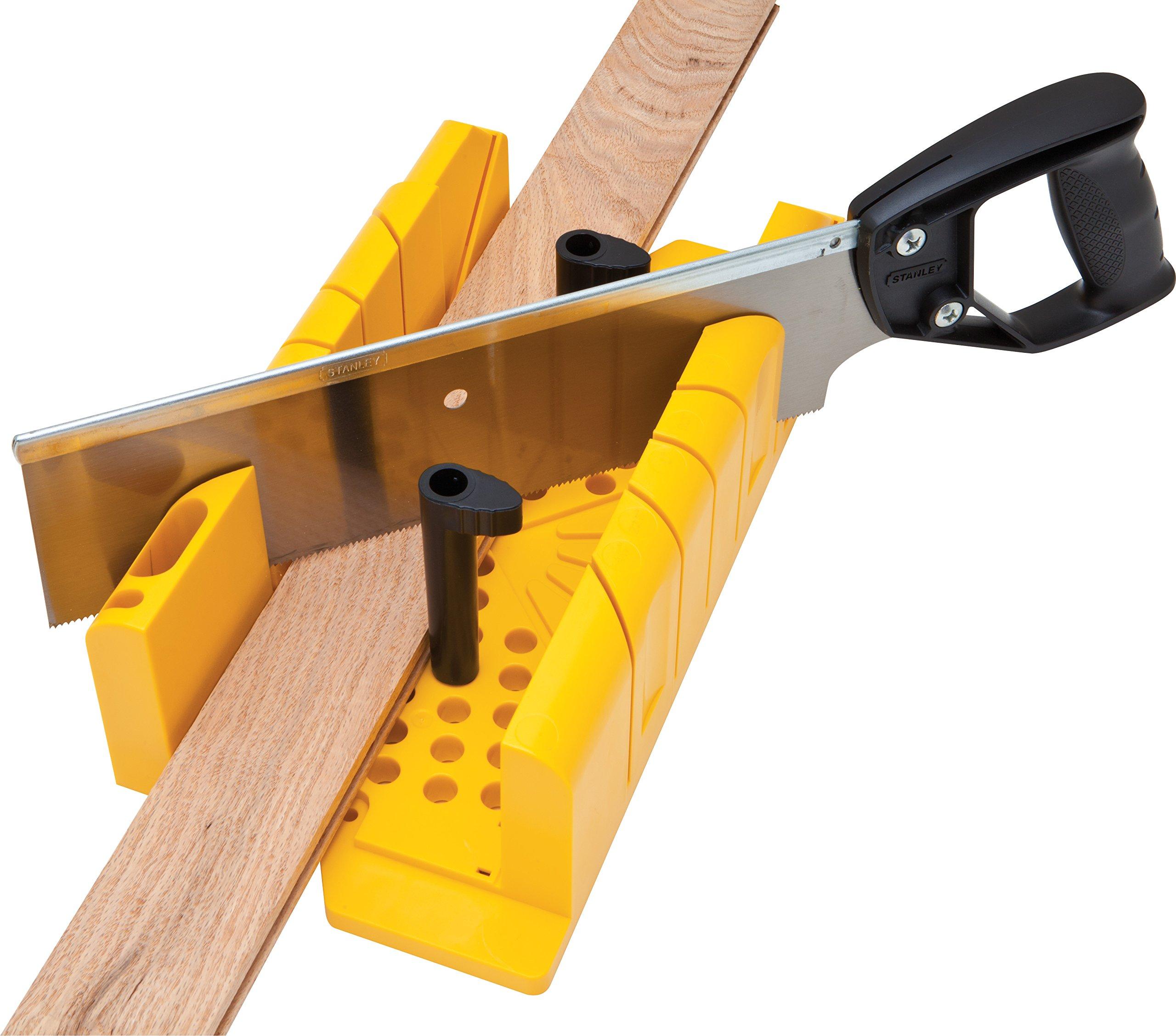 Stanley 1-20-600 Saw Storage Miter Box with Saw, Black