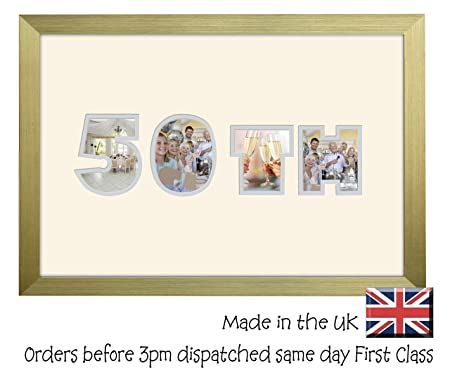 50th Birthday Golden Wedding Anniversary Personalised Guest Book ...