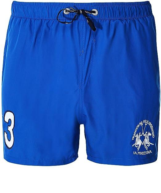 619f3b22a9 La Martina Hombres Michael Swim Shorts Azul: Amazon.es: Ropa y accesorios