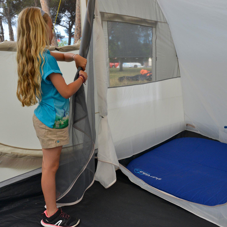 skandika Esbjerg Travel - 2 personas - tienda de campaña para furgonetas/vans - suelo cosido en forma de bañera - beig: Amazon.es: Deportes y aire libre