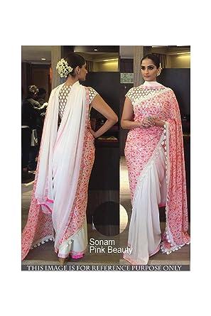 9ace8ca220 Amazon.com: DaFacioun Exclusive Saree Party Wear Designer Bollywood ...