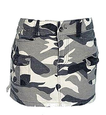 200d96ee7f34 Mini Rock Weisses Camouflage: Amazon.de: Bekleidung