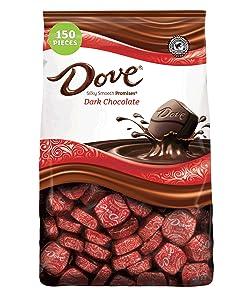 DOVE PROMISES Dark Chocolate Christmas Candy 43.07 Ounce 153-Piece Bag