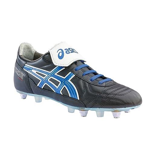 Asics Botas de fútbol para Hombre BlackElectric Blue