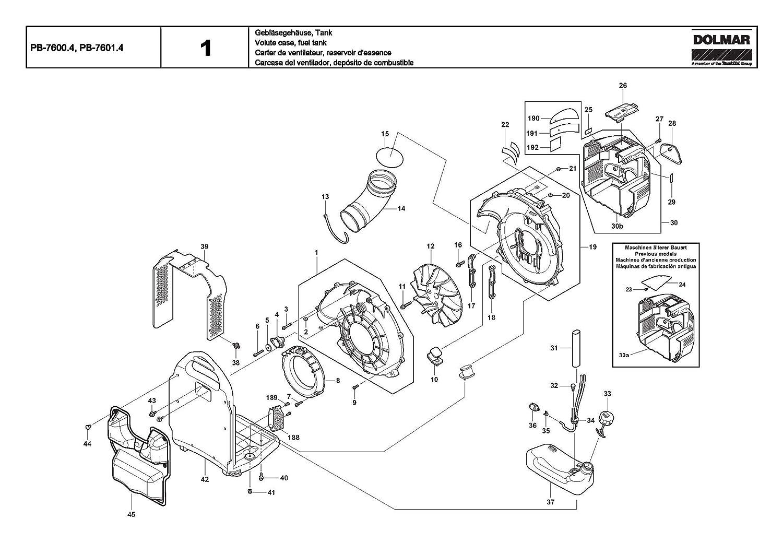 Dolmar 381550020-6405 C/âble de rechange pour pi/èce de rechange PB-7600.4