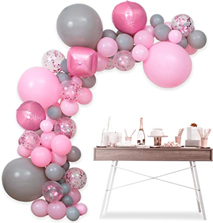 DIY Double Balloons Garland Arch Kit Chrome Gold Baby Pink ROSE Red 4D Gold Balloon for Birthday Wedding Baby Shower Party Decor