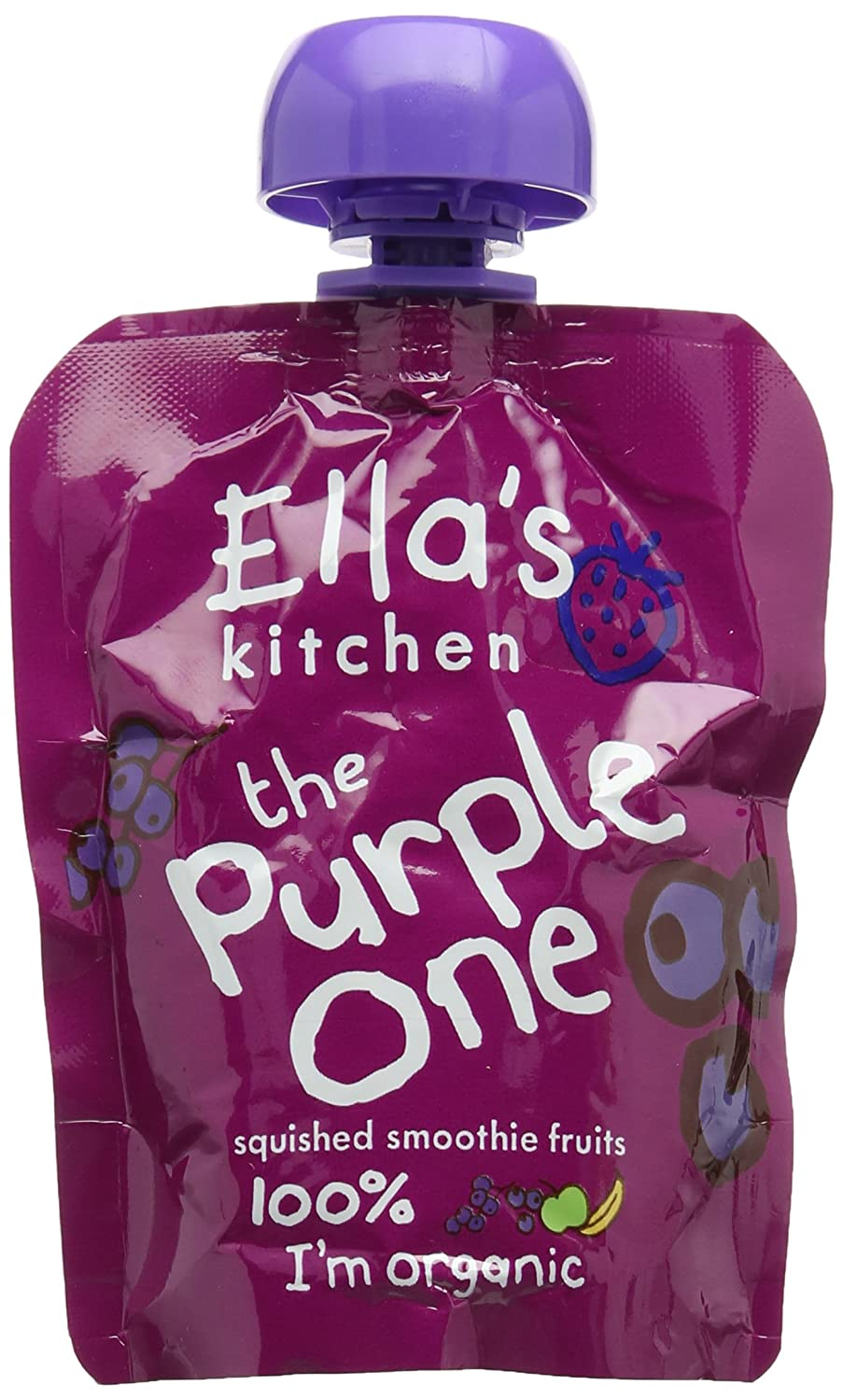 Ella's Kitchen The Purple One Organic Smoothie Fruits 90 g (Pack of 12) Ella' s Kitchen ELL-PURP