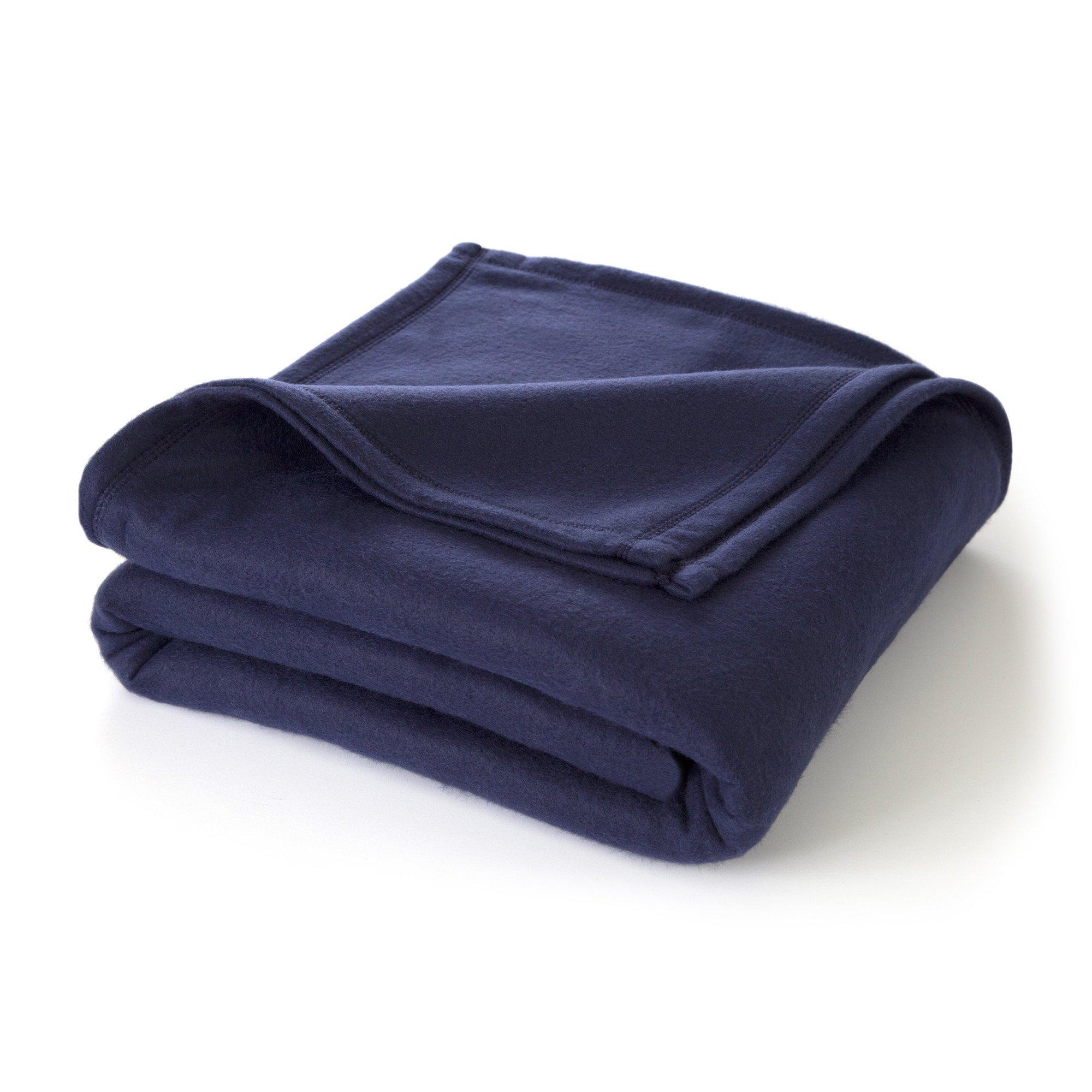 Martex Super Soft Fleece Blanket - Twin, Warm, Lightweight, Pet-Friendly, Throw for Home Bed, Sofa & Dorm - Navy