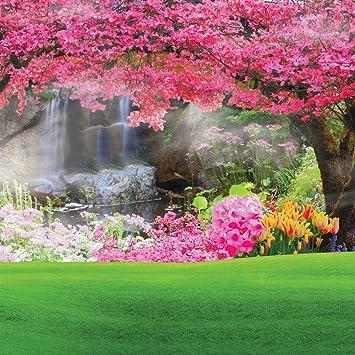 Amazon Com 8x8ft Beautiful Spring Scenery Poly Fabric Photography Backdrop Customized Photo Background Studio Prop Rm 026 Camera Photo