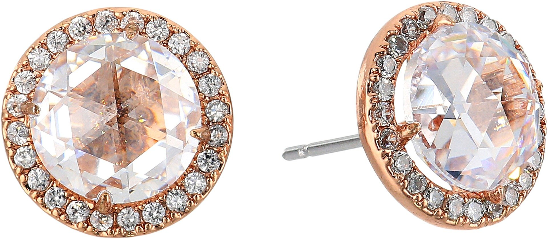 kate spade new york Bright Ideas Pave Halo Rose Gold Stud Earrings