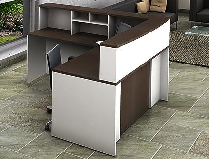 Excellent Amazon Com Office Reception Desk Reception Corner Download Free Architecture Designs Jebrpmadebymaigaardcom