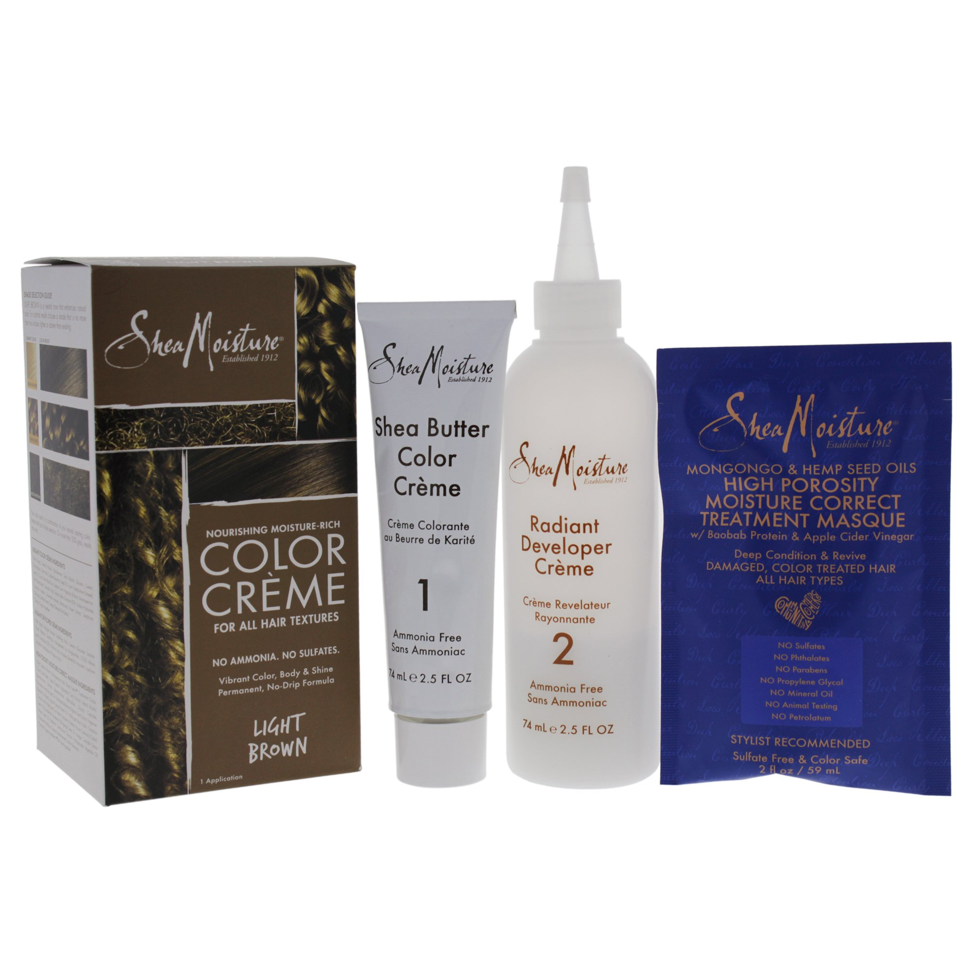 Amazon Shea Moisture Sulfate Free Permanent Hair Dye With No