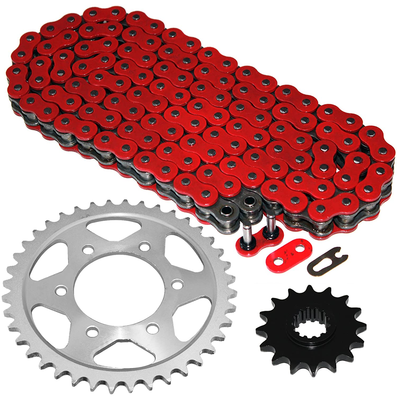 Caltric Red O-Ring Drive Chain /& Sprockets Kit Fits HONDA CBR600F4i CBR-600F4i CBR600 F4i 2001-2006
